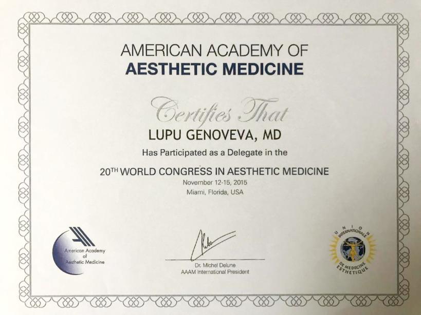 Diploma Doctor Genoveva Nagy - 2015