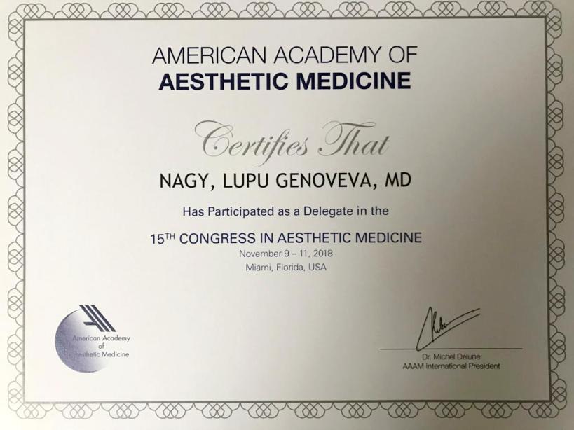 Diploma Doctor Genoveva Nagy - Miami 2018