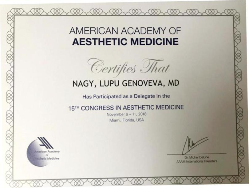 Diploma Doctor Genoveva Nagy - Miami nov 2018