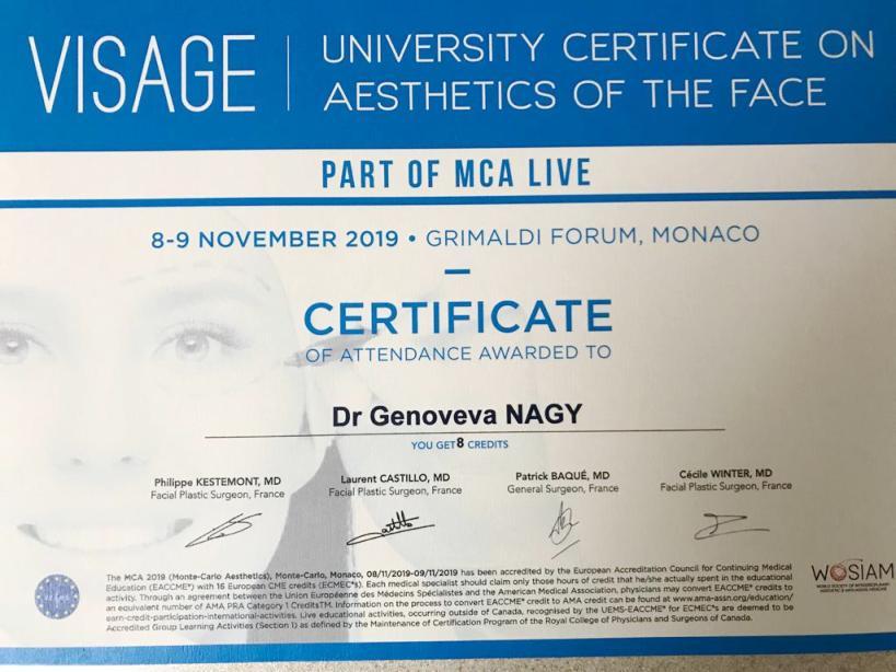 Diploma Doctor Genoveva Nagy - Monaco 2019