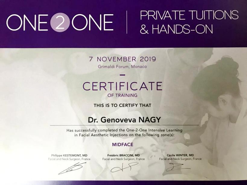 Diploma Doctor Genoveva Nagy - Monaco nov 2019