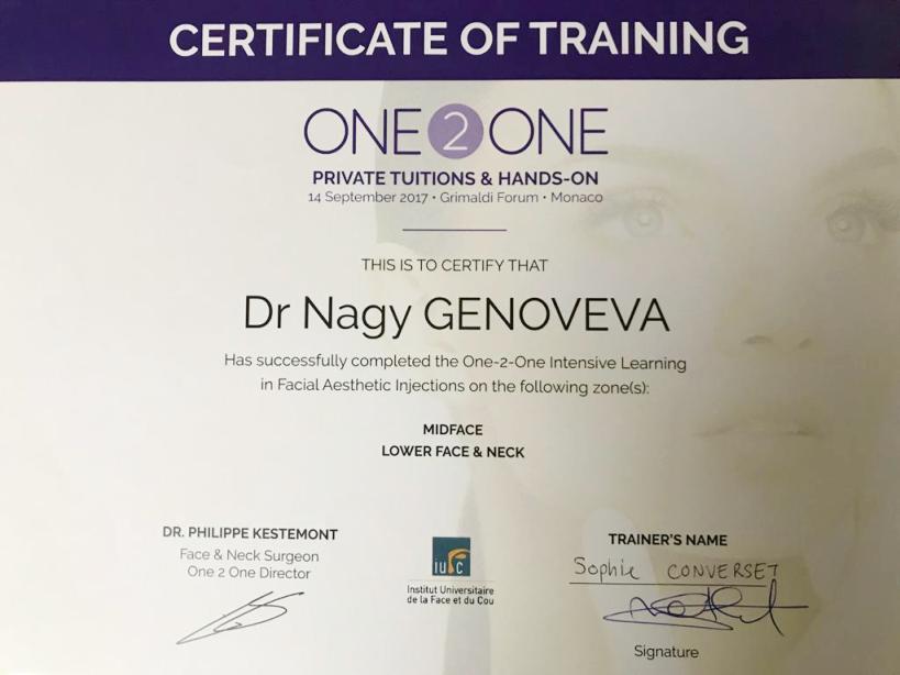 Diploma Doctor Genoveva Nagy - Monaco sept 2017